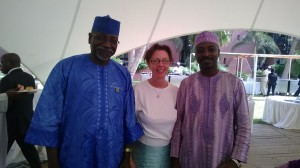 Med afrikanska kollegor